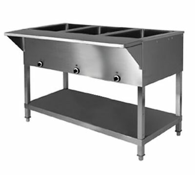 Klingers All Stainless Steel 3 Well Electric Steam Table Wetdry Kti Sw-3h-120