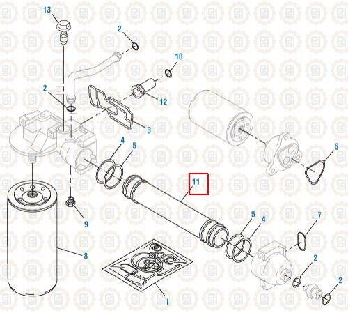 Oil Cooler for an International DT466E. Excel # 441412E