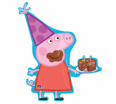 Peppa Pig Large Foil Balloon Supershape Birthday Decorations - Peppa Pig Balloon