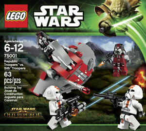 "LEGO STAR WARS SET #75001 ""REPUBLIC TROOPERS VS SITH TROOPERS"""