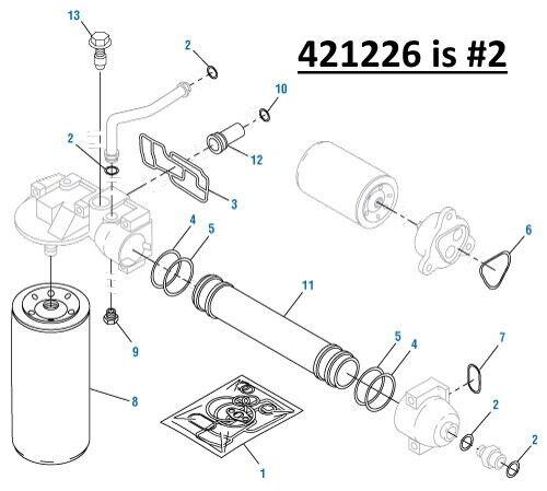 Oil Cooler O Ring Kit For An International Dt466e Pai 421226 Ref 1821098c2 Ebay