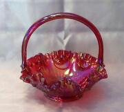 Fenton Ruby Basket