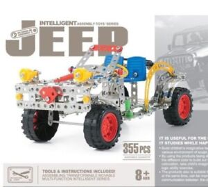 Intelligent Assembly 3D Metal Jeep Alloy Model, Educational Toy