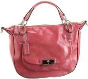 Kristin Patent Leather Round Satchel