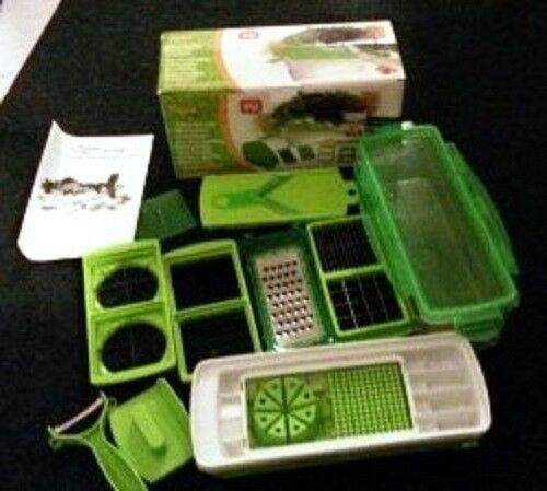 SLICER PLUS VEGETABLE SALAD FRUIT PEELER CUTTER CHOPPER GRATER NICER DICER