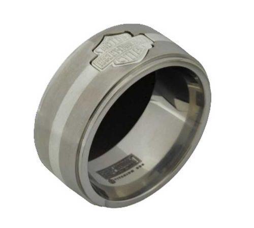 harley davidson titanium ring ebay. Black Bedroom Furniture Sets. Home Design Ideas