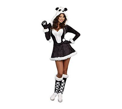 Dreamgirl Panda Bear Baby Adorable Animal Adult Womens Halloween Costume - Panda Bear Halloween Costume