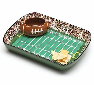 Football Stadium Chip And Dip Serving Set Great For Parties and Kitchen Decor](Serving Platters For Parties)