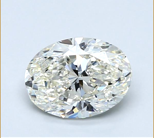 Natural Loose Diamond 0.79 CT Oval Cut J Color VS1 Clarity GIA Certified