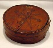 Antique Wood Cheese Box