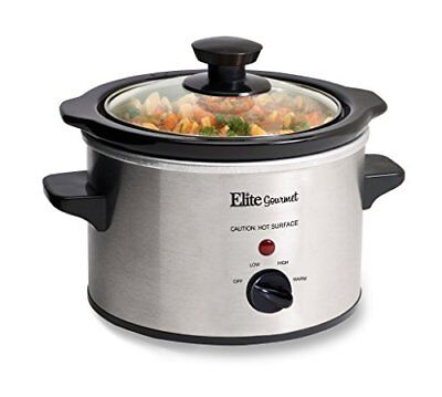 Small Slow Cooker Stainless Steel Crock Pot Mini Kitchen Appliance Portable New