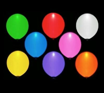 Lot of 2 Illooms LED Mulit-Mix Color Light Up Balloons x15 Pack - Mint Colored Balloons