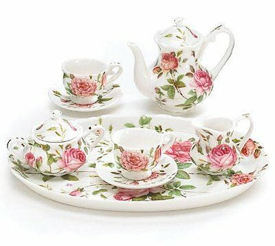 Gracie China Rose Chintz Porcelain Tea Cup and Saucer Set of 4 Gift Box