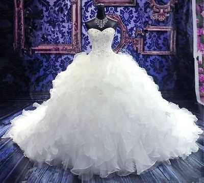 New white/ivory Mermaid lace Wedding Dress Custom Size 2-4-6-8-10-12-14-16-18++