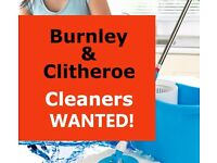 Burnley & Clitheroe Cleaners Wanted