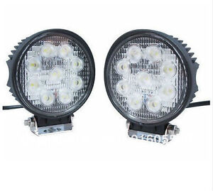 "LED Light Bar 4"" 27W 9 LEDs Square/Round"