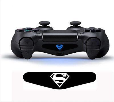 Superman Controller Light Bar  Aufkleber Sticker PS4 Playstation 4 (Ps4 Controller Light Bar Superman)