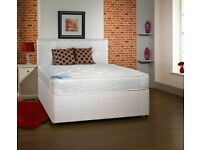 BRAND NEW DOUBLE / SMALL DOUBLE REGENCY ORTHOPEDIC DIVAN BED AND MATTRESS HEADBOARD/DRAWERS EXTRA