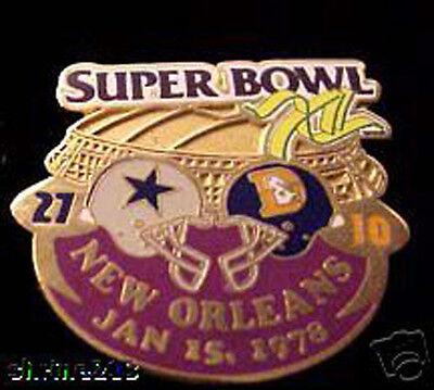 Super Bowl 12 Final Score Pin Dallas Cowboys V Denver Broncos