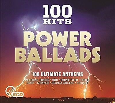 Various Artists - 100 Hits: Power Ballads / Various [New CD] UK - Import