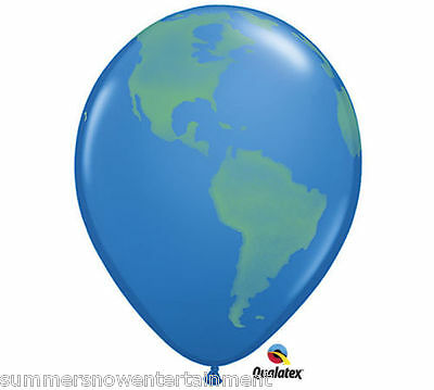 12 Balloons Earth Day Globe Continents Map World Planet 11 Recycle Conservation
