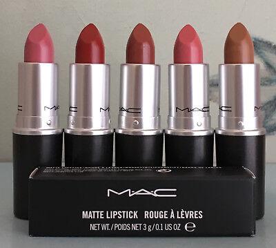 MAC Matte Lipstick 0.1 oz / 3 g NEW IN BOX ( Choose Your Color )