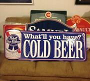 Pabst Blue Ribbon Tin Sign