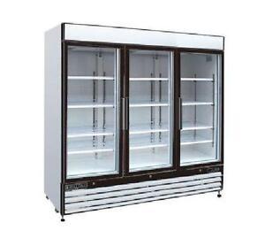 3 Door Glass Freezer