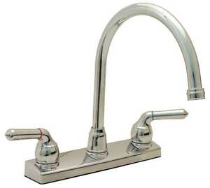 proplus kitchen faucet with gooseneck spout and 8 centers nonmetallic