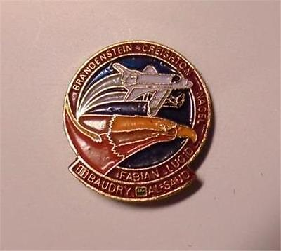 "3/4 "" ENAMEL NASA STS 51 G AL SAUD ROYAL FAMILY LAPEL PIN  SQUEEZE CLIP  VGC"