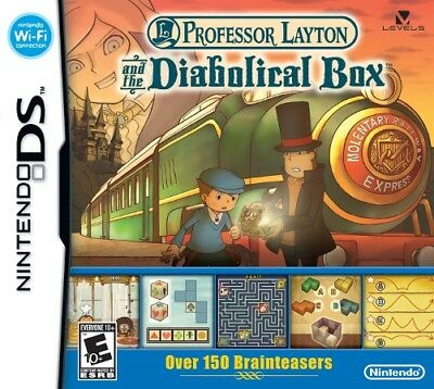 Professor Layton & Diabolical Box + Mystery Case Files MillionHeir (Nintendo DS)