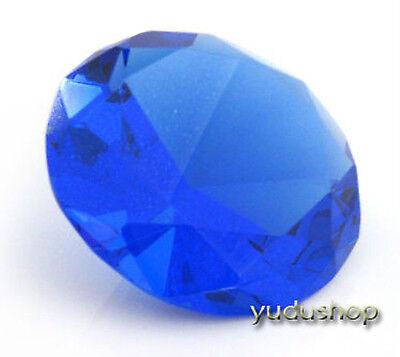 Glasdiamanten Dekodiamant aus Kristallglas 120mm blau