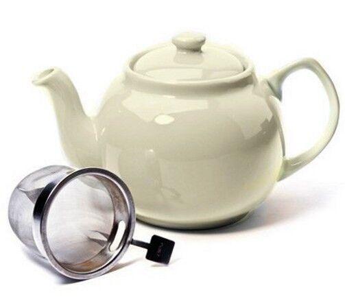 Teekanne CREAM - Creme 1,2l Shamila® (Tee Kanne, Keramik)