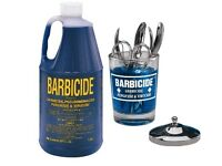 Barbicide (16 fl oz) and barbicide glass jar