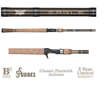 "Fenwick Eagle Casting Rod EA66M-FC-2 6/'6/"" Medium 2pc"