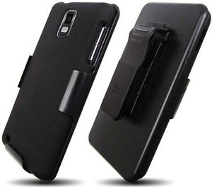 BLACK CASE+SCREEN PROTECTOR+BELT CLIP HOLSTER FOR AT&T SAMSUNG INFUSE 4G i997
