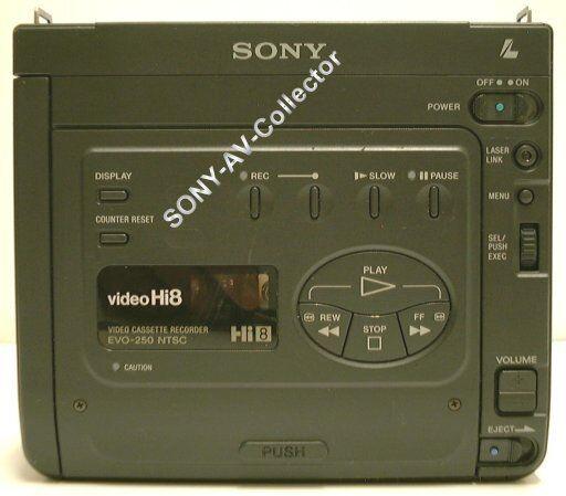 Sony EVO-250 Hi8 Video8 8mm Video 8 Player Recorder Smallest VCR Deck EX