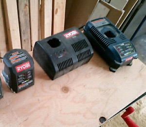 Ryobi 18V Chargers. All 3 for $20.