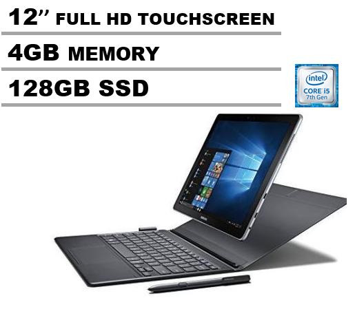 """Samsung Galaxy Book 12"""" Windows 2-in-1 PC, 4GB RAM/128GB SSD, SM-W720NZKBXAR"""