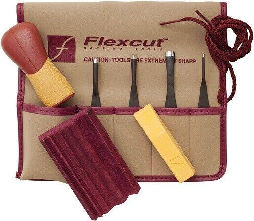 Flexcut SK130 Printmaking 5-Piece Carving Multi-Pocket Tool Blade Set