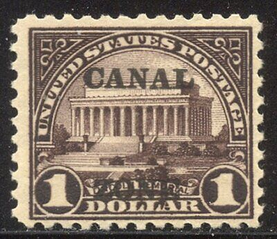 CANAD ZONE #81 Mint NH - 1925 $1.00 Violet Brown ($400)