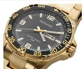 ACCURIST MENS GOLD PLATED WATCH
