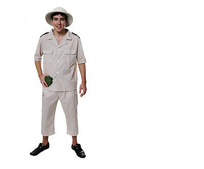 MENS AFRICAN SAFARI ZOO KEEPER FANCY DRESS COSTUME OUTFIT PARTY STAG STEVE - Zoo Keeper Outfit