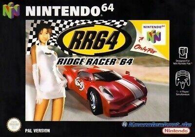N64 Nintendo 64 game Ridge Racer 64 boxed