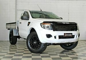 2012 Ford Ranger PX XL 2.2 HI-Rider (4x2) White 6 Speed Manual Cab Chassis Burleigh Heads Gold Coast South Preview
