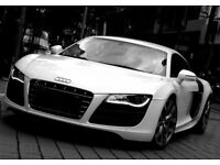 Supercar Audi R8 V10 & Bentley GT Speed wedding/prom/night out event hire
