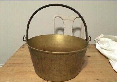 Heavy old rustic copper pot - jam pot