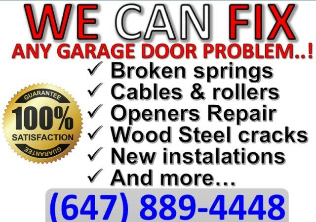 24 7 Same Day Garage Door Repairs Call Now☎️ 647 889 4448