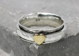 Sterling silver size o spinning ring