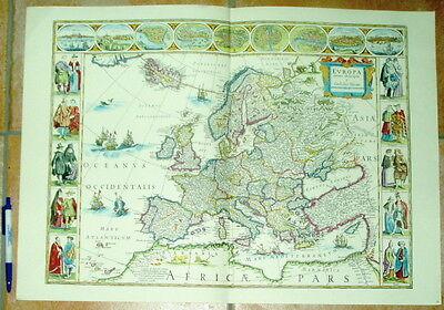 Europa alte Landkarte Reproduktion 60 x 43 cm Europa recens descripta